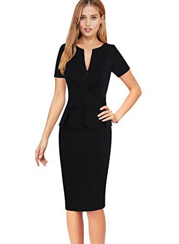 Zipper Sheath Dress - 6