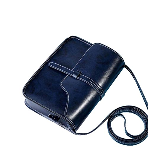 Rakkiss Vintage Purse Bag Leather Cross Body Shoulder Messenger Bag Leather Vintage Tassel Shoulder Bags (One_Size, Dark Blue)