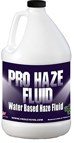 Haze Fog Machine (Froggys Fog - High-Performance Haze Fluid for Hurricane Haze 2 & Fog Machines - Pro Haze Juice - Water Based Haze Fluid - 1 Gallon)