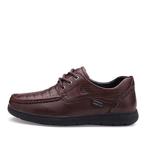 Prossebull Mens Casual Mode Läder Sko (eur 42, Rödbrun) Röd Brun