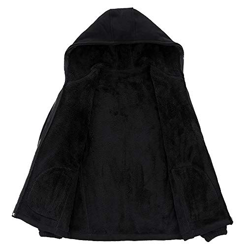 Invernale Slim Cappuccio Lunghe Maglione Cardigan Casuale Maniche Cappotto Con Fit Pullover Lanskrlsp Nero A Da Uomo qtPw7wUxv