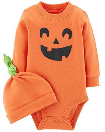 Carter's 2-Piece Pumpkin Hat and Collectible Bodysuit (3 Months, Pumpkin)