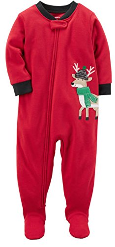 Red/Black Reindeer Fleece