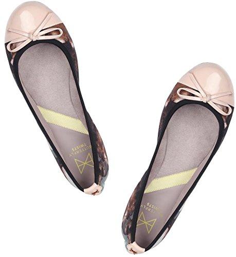 Butterfly Twists Damen Olivia Floral Geschlossene Ballerinas Multicolor