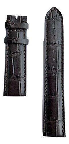Movado Brown Leather Band Strap for Movado Men's Circa Watch Models: 0606576, 0606575