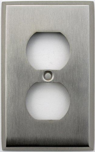 Classic Accents Stamped Steel Satin Nickel One Gang Duplex Outlet Wall Plate Duplex Electrical Accent Wall Plate