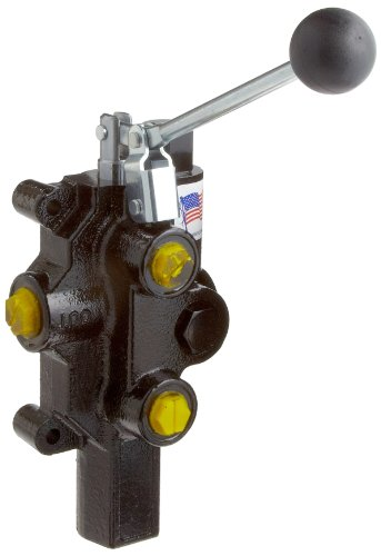 Prince RD-2508-T4-ESA1 Directional Control Valve, Logsplitter, Monoblock, Cast Iron, 1 Spool, 4 Ways, 3 Positions, Single Acting Cylinder Spool, Spring Center, Lever Handle, 3000 psi, 20 gpm, In/Out: #10 SAE, ()