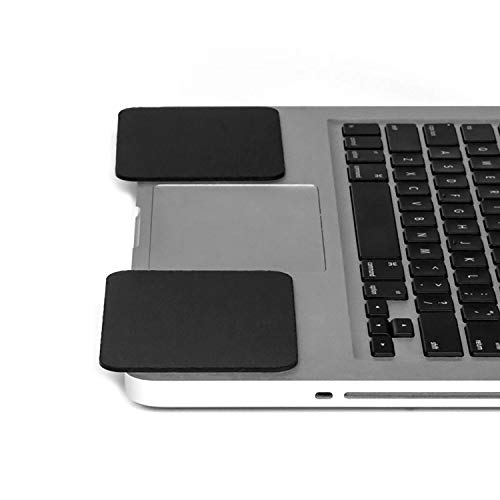 GRIFITI Large Slim Palm Pads Notebook Wrist Rests and Laptop Wrist Pads Made with Silicone to Easily Reposition and Remove while Travelling (2 Large 4 x 3.12 inches)