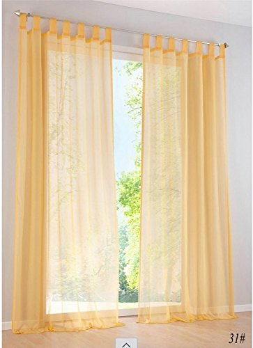 Hot Sale- High Quality western simple Voile Solid color sheer window curtains Free shipping (a - Red Tint Arlo