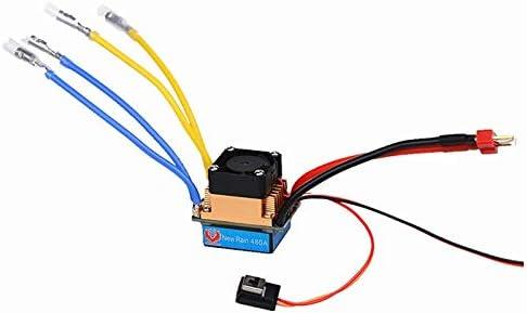 Fire Phoenix New Rain Waterproof 80A 480A Brushed ESC for Single Dual Motor with Cooling Fan 2-4s 3 Modes 5V//3A BEC for RC car with T Plug for Dual Motor