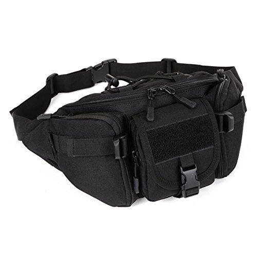 DCCN Tactical Hüfttasche Bauchtasche Militär Gürteltasche mit 5 Fächer inkl. Reißverschluss für Outdoor Sport Trekking…