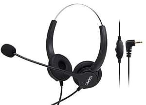 Amazon.com : 2.5mm Headset, Coodio 2.5mm Headphone [Volume ...