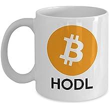 Bitcoin Mug - Cryptocurrency Coffee Mug - Satoshi Nakamoto BTC Bitcoin HODL Mug 11 oz Ceramic Novelty Gift For Supporters Him or Her - By MyCozyCups