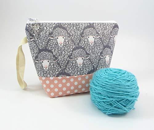sheep Crochet Small Wedge Yarn Project Bag Travel Yarn -