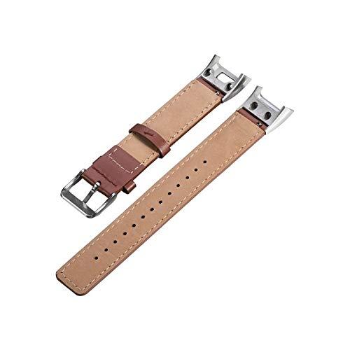 Jewh Genuine Leather Watchband - Band Strap for Garmin Vivosmart HR+ - Approach X10 X40 GPS