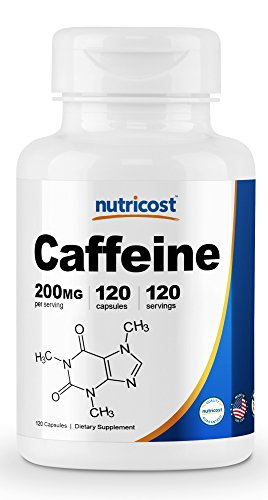 Mg 120 200 Pills (Nutricost Caffeine Pills 200mg, 120 Caps)
