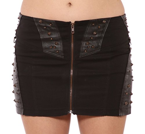 Lip Service Corrosion Sex in the Pit Skirt Studded Rocker Skirt