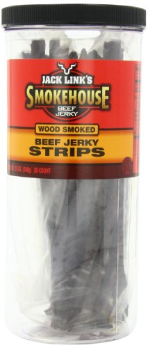 Smoke Beef Jerky - Jack Link's Smokehouse Beef Jerky Strips, Wood Smoked, 30-Piece