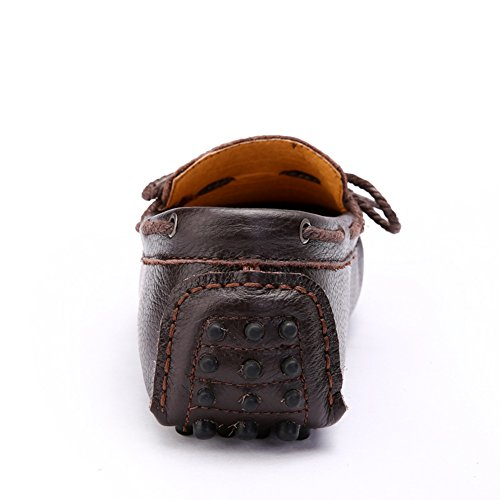 Go Tour Mens Genuine Leather Classic Moccasin Brown naEd5F2a