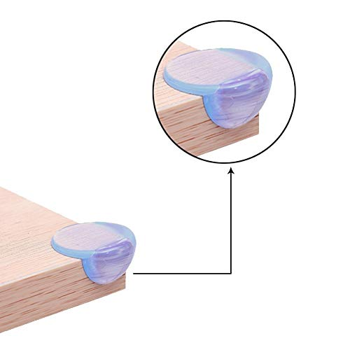 TENKEY 24 Packs Baby Safety Soft Table Desk Silicone Edge Corner Guards Cushion Protector with 3M Adhesive- L Shaped & Ball Shaped by TENKEY (Image #6)