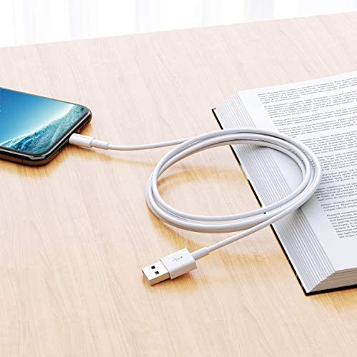 POWERADD Lightning Cable 6.6ft MFI Certified iPhone Charger USB Charging/Sync Lightning Cord 8 Pins Compatible with iPhone SE 11 11 Pro 11 Pro Max Xs MAX XR X 8 7 6S 6 5, iPad and More