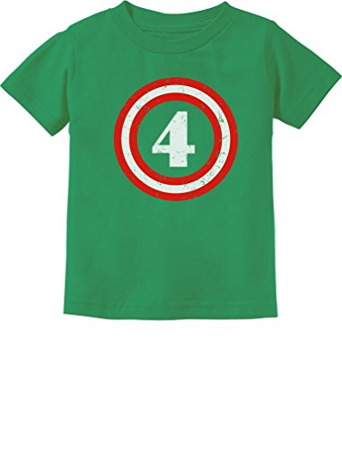 Captain 4th Birthday - Gift for Four Years Old Toddler/Infant Kids T-Shirt 5/6 Green