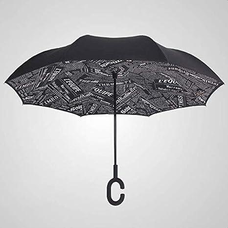ZGMMM Paraguas Paraguas Doble a Prueba de Viento ...