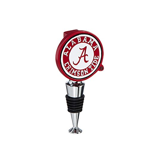Team Sports America University of Alabama Hand-Painted Team Logo Bottle Stopper ()
