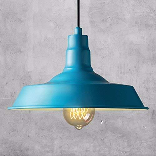 UON Gzz Deng Home Außenbeleuchtung Pendelleuchte Schatten Industrie Hängelampe Kronleuchter Licht Café Blau 46Cm Wohnzimmer Restaurant Schlafzimmer Beleuchtung