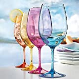 Indoor/Outdoor Mixed Color Wine Glasses -set of 4