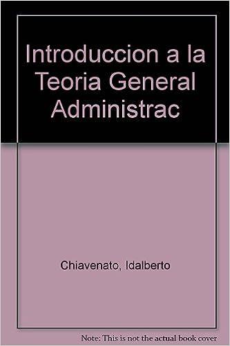 Teoria General De La Administracion Chiavenato Epub