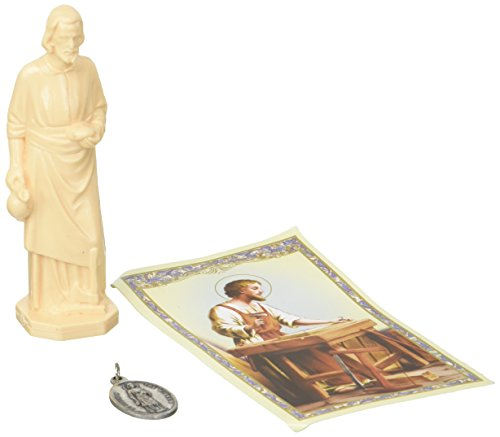 Religious Gifts St Joseph Statue Home Seller Selling Kit Saint House Figurine and Instruction Prayers and Medal