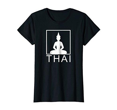 Womens Thai Buddha | Thailand | Box | T-Shirt | Gift Idea by Thai Designs by Chindavon
