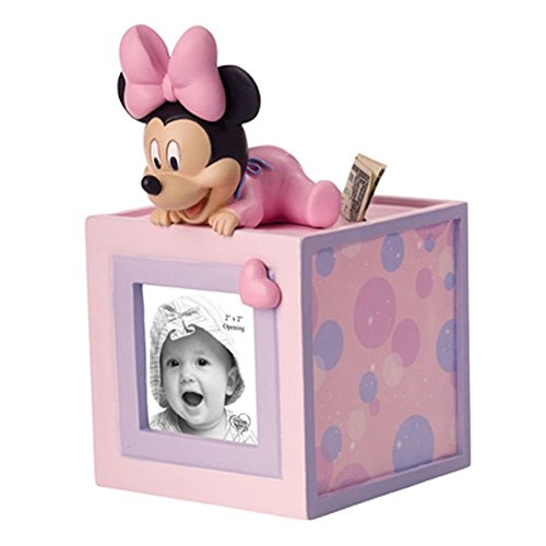 Precious Moments 152702 BABY MINNIE PHOTO CUBE BANK