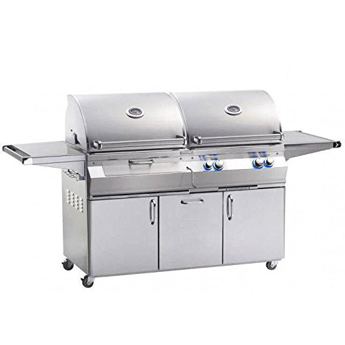 30s Dual Propane Gas And Charcoal Combo Bbq Grill With Rotisserie On Cart - A830s-6eap-61-cb ()