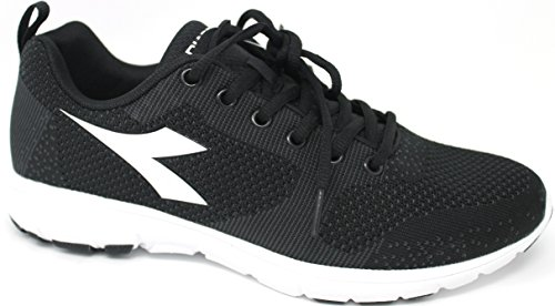 Diadora zapatos Running Hombre – X Run Light –�?72478-c0003 – Negro/Blanco ottico-41