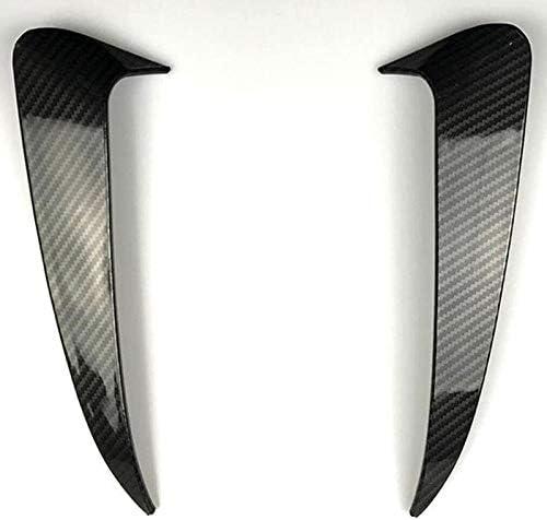 Basage For C Class W205 C43 C63 Amg Carbon Fiber Look Rear Bumper Air Vent Cover 2014-2019 2Pcs