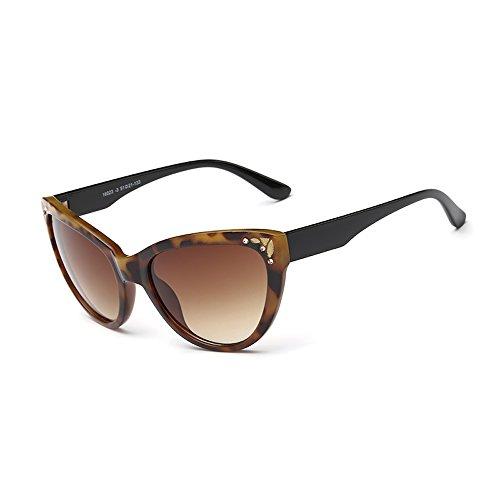 Tortoise Framed Cat-eye Sunglasses with Tawny Lens & Shiny Black Arms - Glasses Cat Framed