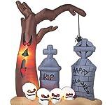 8ft Airblown Inflatable Halloween Graveyard
