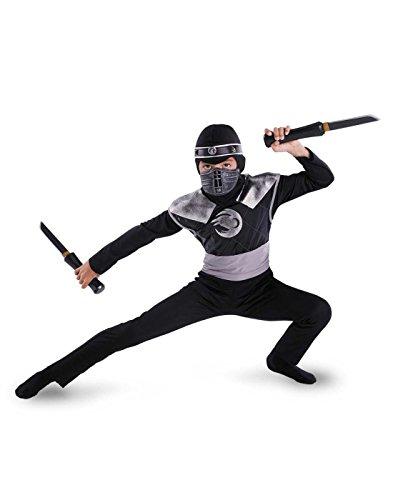 Disguise Dark Raven Ninja Classic Costume - Medium (7-8) -
