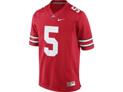 - Ohio State Buckeyes #5 Scarlet Stitched Limited Nike Jersey - Large