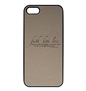 Iphone 5 5s Carcasa Bible Verse Quotes Elegant Dise?O Popular Pretty Style Anti Dust Plastic Cover