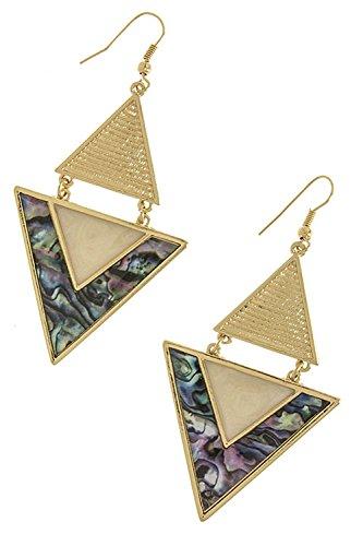 resin shell earrings - 7