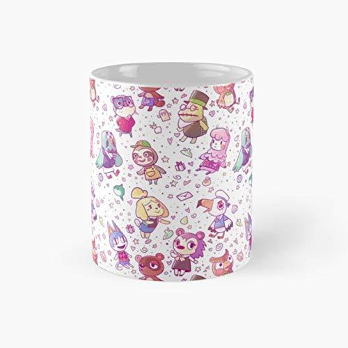 gocontigo - Animal Crossing Pattern Mug 11 Oz White Ceramic ()