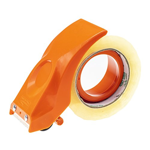 (PROSUN Easy-Mount 2 Inch Tape Gun Dispenser Packing Packaging Sealing Cutter Orange Handheld Warehouse)