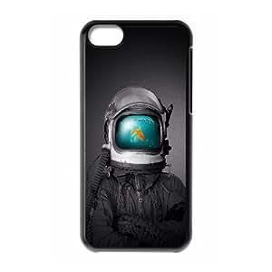 iPhone 5c Cell Phone Case Black Fish Man Illust SP4116842