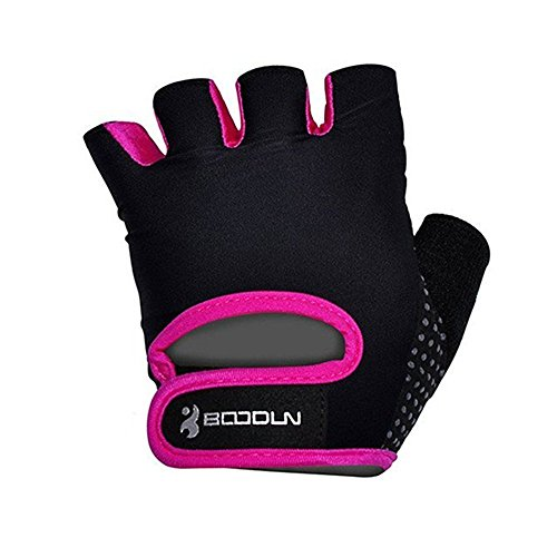 BOODUN Womens Mens Weight Lifting Gloves for Fitness Exercise, Gym Training, Purple, Large ()