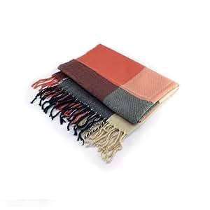 De ancho largo pantalones de deporte para mujer Fashion rejillas de diseño de rayas bufanda, twill colores para