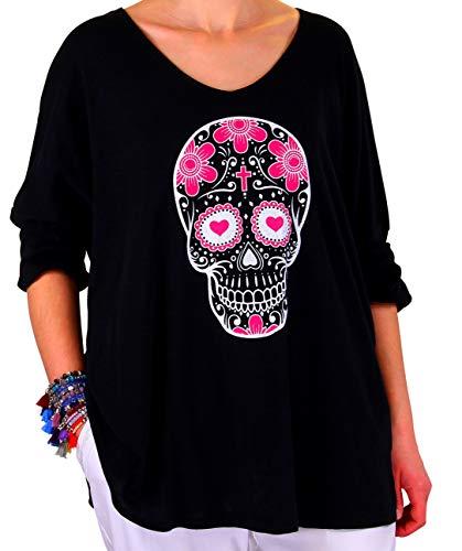 Skull Grande Tunique Jeff Taille Charleselie94® Noir RvqTwF