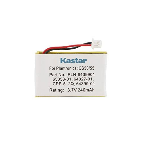 Kastar 3.7V 240mAh Battery (1-Pack) for Plantronics CS-50 CS50-USB CS-55 CS-60 PL-CS-50 PL-CS-50USB PL-CS-55 PL-CS-60 Replaces OEM Avaya AWH-55 Plantronics 64327-01 64399-01 65358-01 PL-64399-01